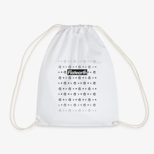 Flat Earth Pattern - Drawstring Bag