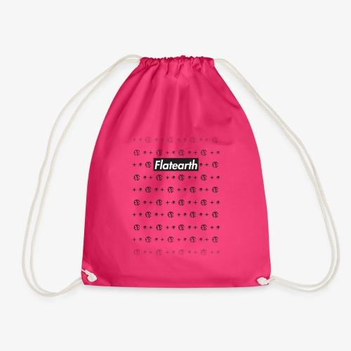 Flat Earth Pattern - Drawstring Bag