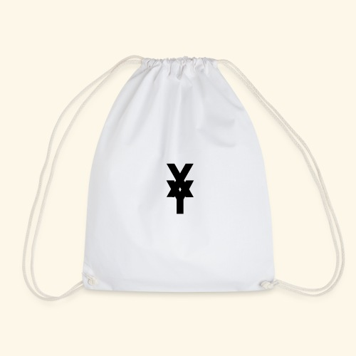 XY Logo In Black - Drawstring Bag