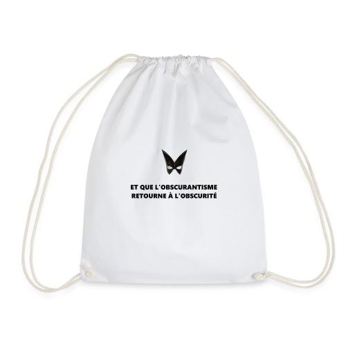Defakator : logo et devise sur fond blanc - Sac de sport léger