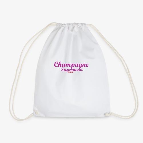 Champagne Supernova violet2 - Turnbeutel