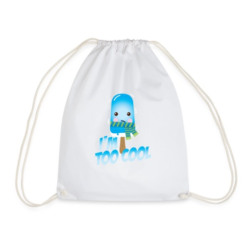 Funny to cool spell cute ice cream in summer - Drawstring Bag