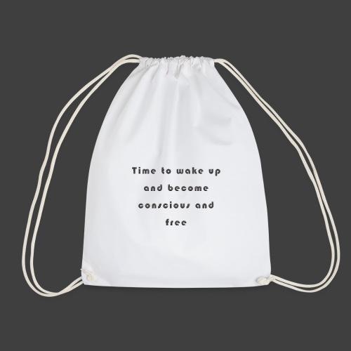 Time to wakeup - Drawstring Bag