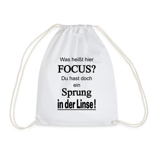 Was heißt hier Focus? Du hast Sprung in der Linse! - Turnbeutel