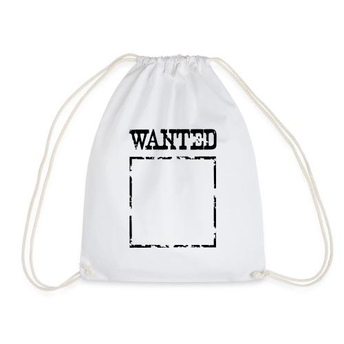 Wanted $ Boarder Frame Rahmen -> zum einschreiben - Turnbeutel