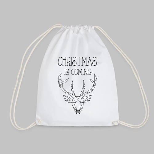 Deer Christmas - Drawstring Bag