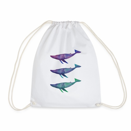 purple whale - thalassophilia - Mochila saco