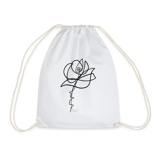 Rosa single line - Mochila saco