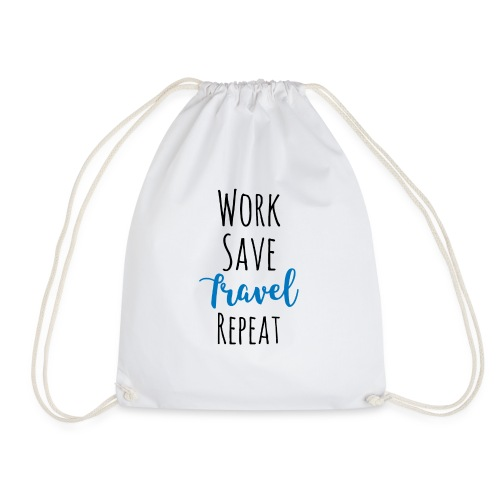 Work Save Travel Repeat - Turnbeutel