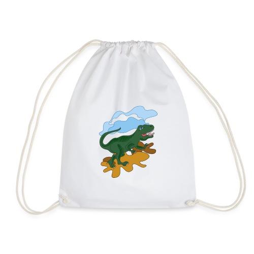 dragon dinosaur - Drawstring Bag