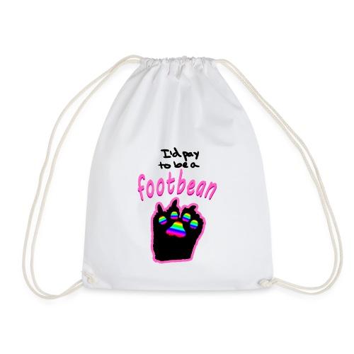 I'd pay to be a footbean - Drawstring Bag