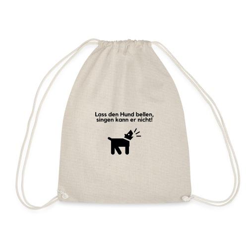 Bellender Hund - Turnbeutel