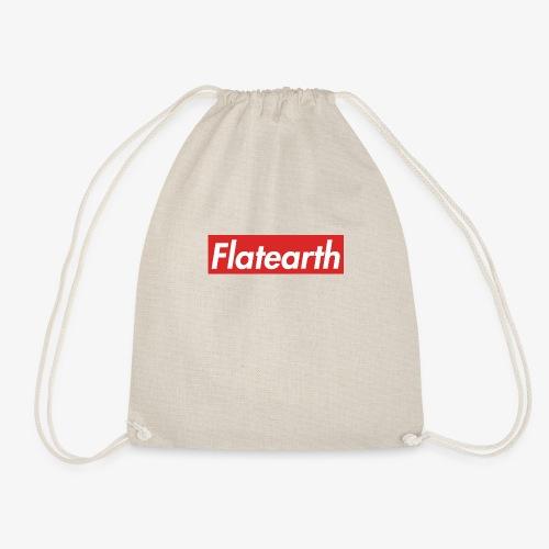 Red Flat Earth Box Logo - Drawstring Bag