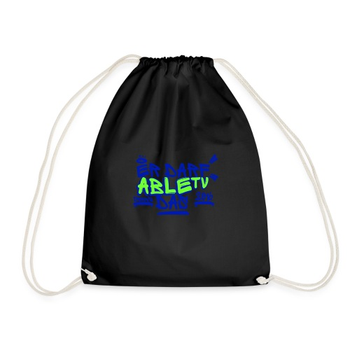 AbleTV Grafitti Logo Marken Shirt (Er Darf Das) - Turnbeutel
