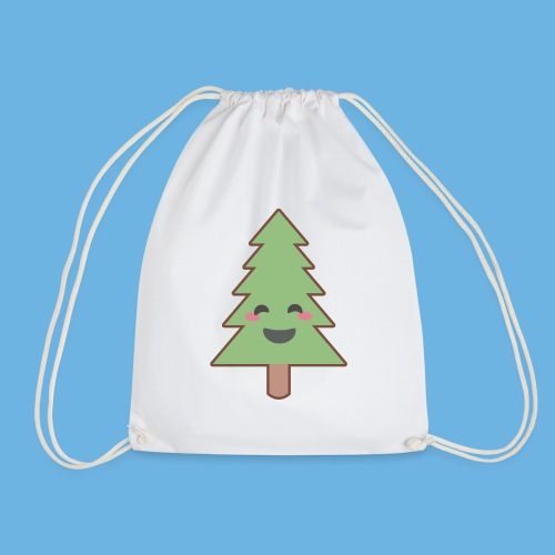Kawaii Christmas Tree - Drawstring Bag