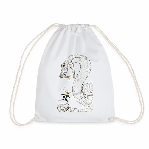 Poison - Fight against a giant poisonous snake - Drawstring Bag