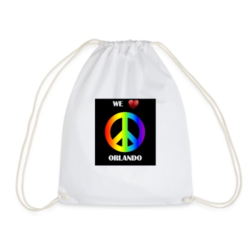 ORLANDO PEACE BLACK - Drawstring Bag