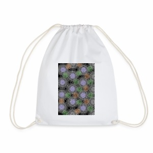 Floral illusion - Drawstring Bag
