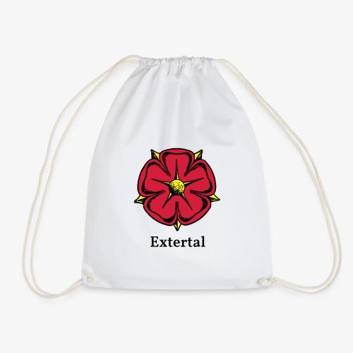 Lippische Rose mit Unterschrift Extertal - Turnbeutel