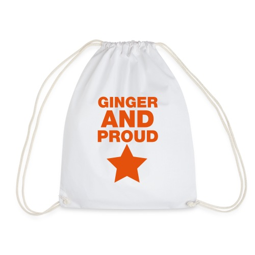 Ginger And Proud Star - Drawstring Bag