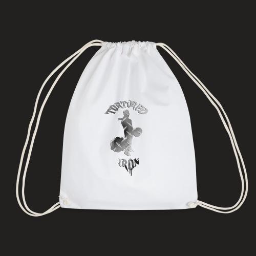 deadlift spread png - Drawstring Bag