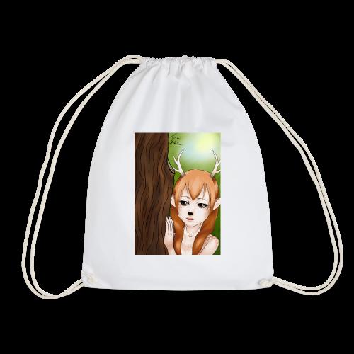 Sam sung s6:Deer-girl design by Tina Ditte - Drawstring Bag