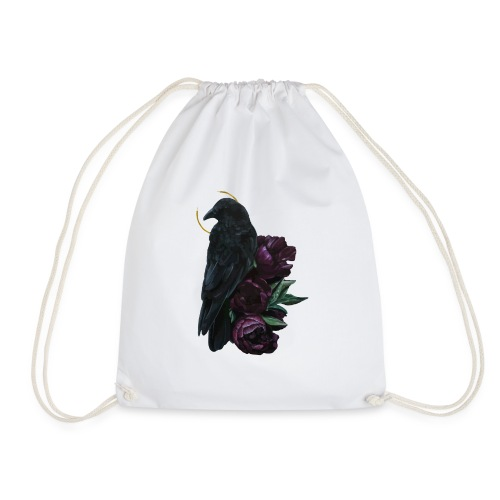 crow and flowers - Sacca sportiva