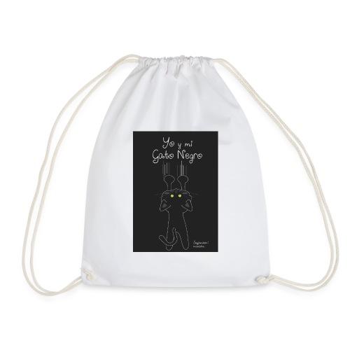 Camiseta gato Negro - Mochila saco