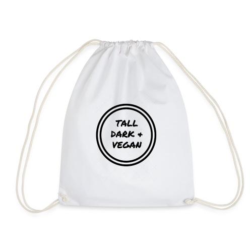 TallDark &Vegan (1) black - Drawstring Bag