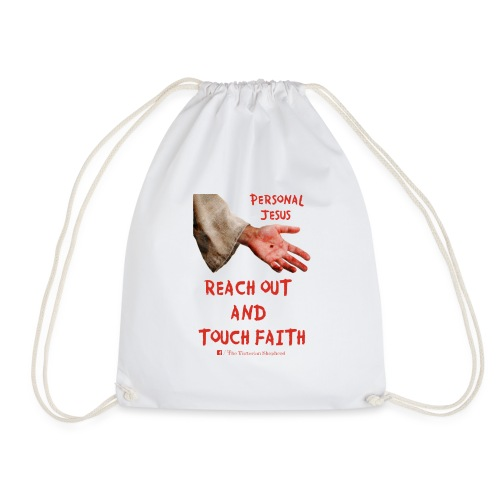 Reach Out And Touch Faith - Drawstring Bag