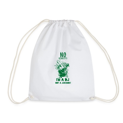 DJ no JukeBox GREEN - Drawstring Bag