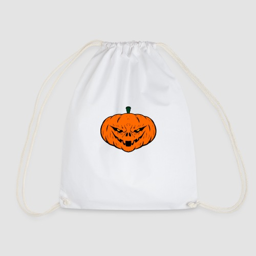 Evil Halloween Pumpkin - Drawstring Bag