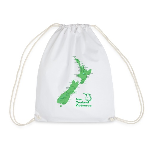 New Zealand's Map - Drawstring Bag