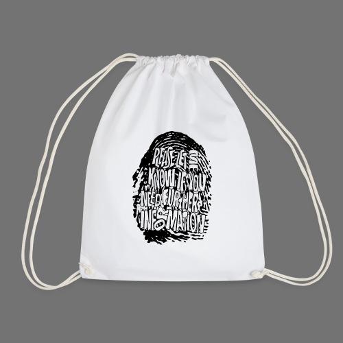 Fingerprint DNA (black) - Drawstring Bag