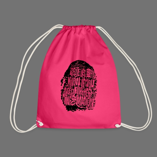 Fingerprint DNA (black) - Drawstring Bag