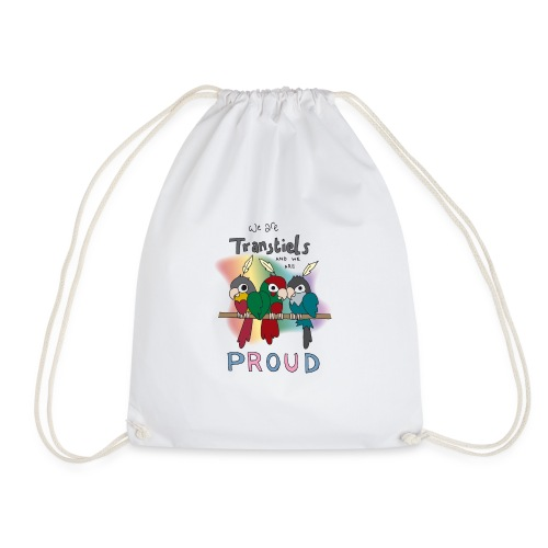 Transtiels and Proud - Drawstring Bag