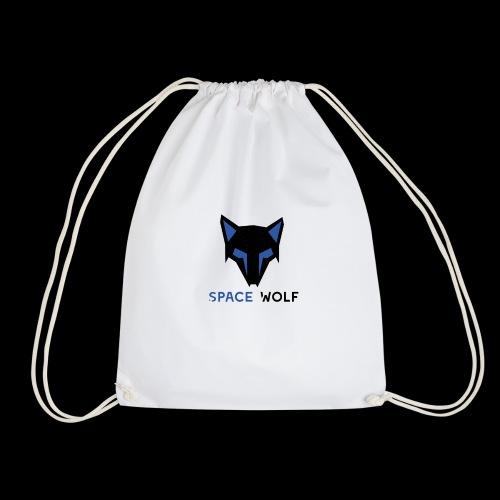 logo lobo space wolf negro azul - Mochila saco