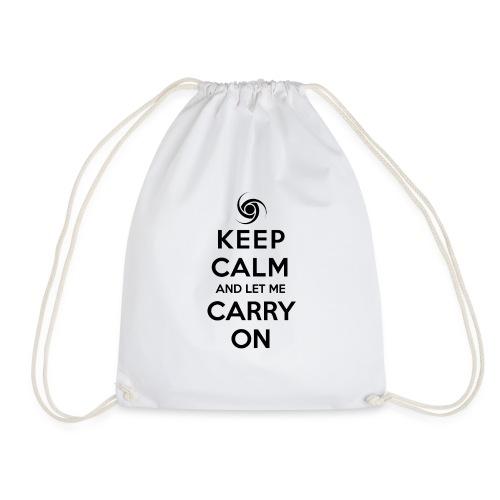Keep calm black - Drawstring Bag