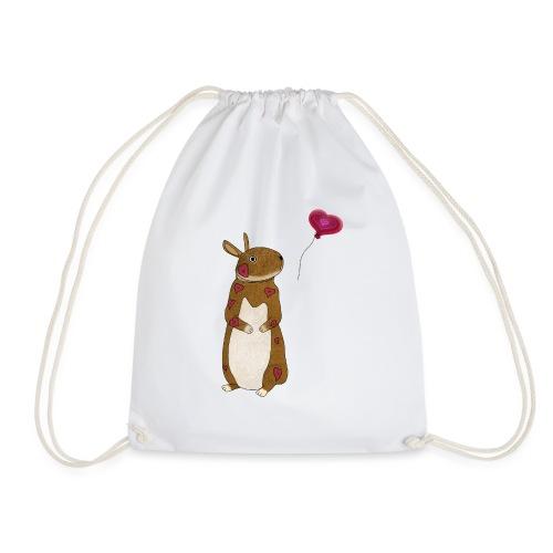 Valentine bunny - Drawstring Bag