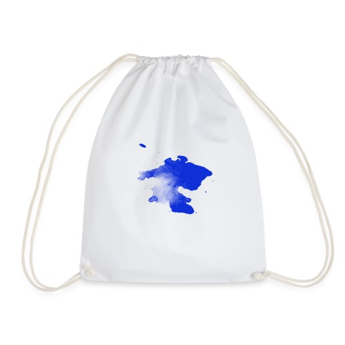 ink splatter - Drawstring Bag