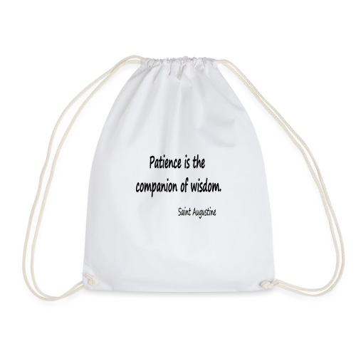 Peace and Wisdom - Drawstring Bag