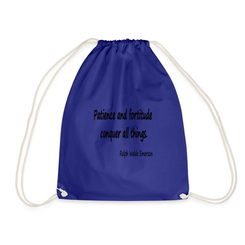 Peace and Patience - Drawstring Bag
