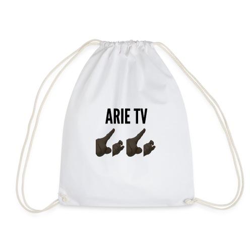 Arie TV- Logo zwart - Gymtas