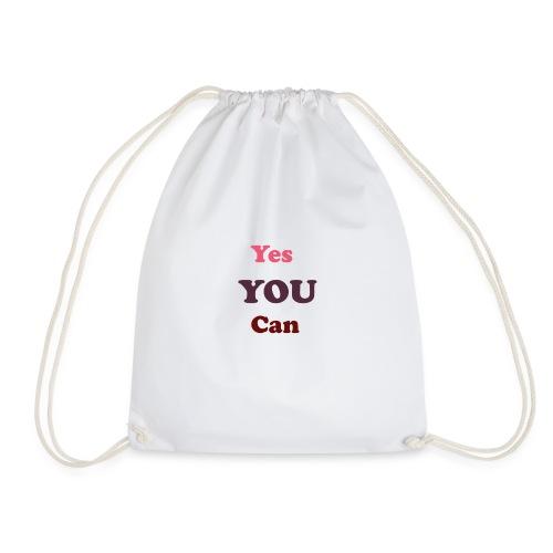 you can - Drawstring Bag