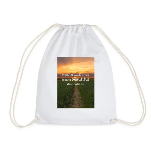Dificult roads - Drawstring Bag