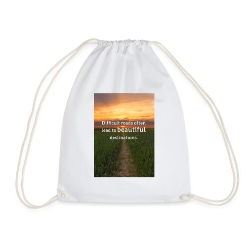 Dificult roads - Drawstring Bag