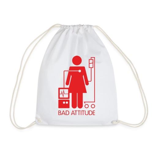 Bad Attitude Female - Drawstring Bag