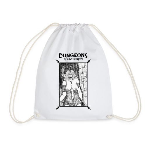 catacombs vampire black version - Drawstring Bag
