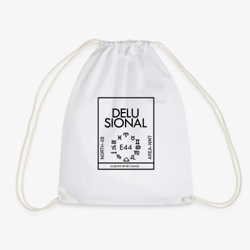 DELUSIONAL - Drawstring Bag