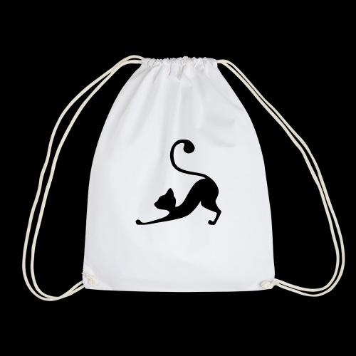 Downward Facing Dog - Cat Edition - Drawstring Bag